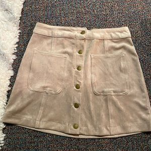 Altar'd State tan suede skirt